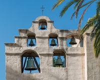 Mission San Gabriel bell tower Royalty Free Stock Photo