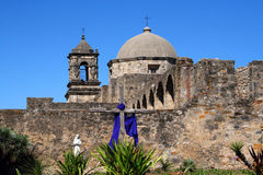 Mission San Jos� in San Antonio Texas Stock Images