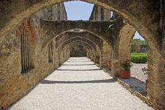 Mission San Jose arches. Mission San Jose in San Antonio Texas Stock Image