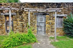 The Mission San Jose y San Miguel de Aguayo in San Antonio, Texas royalty free stock image