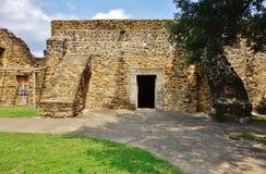 The Mission San Jose y San Miguel de Aguayo in San Antonio, Texas stock image