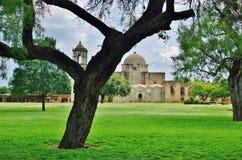 The Mission San Jose y San Miguel de Aguayo in San Antonio, Texas royalty free stock photos