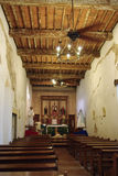 Mission San Juan. Interior of a church at Mission San Juan in San Antonio Texas Royalty Free Stock Photo