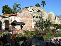 Mission San Juan Capistrano. The oldest of the California Missions, Built by the Spanish in 1776, this beautiful mission is home to the famous return of the Royalty Free Stock Photo