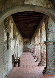 Mission San Juan Capistrano. Arcade, or covered walkway, at Mission San Juan Capistrano in San Juan Capistrano, California Royalty Free Stock Photography
