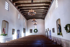 Mission San Luis Obispo de Tolosa California Wooden Pews Stock Photo
