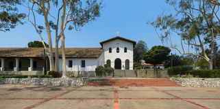 Mission San Luis Obispo. Panoramic view of the Mission San Luis Obispo de Tolosa on Palm Street in San Luis Obispo, California royalty free stock photo