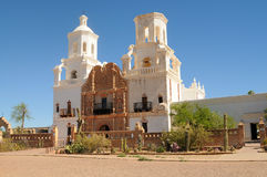 Mission san Xavier del Bac. Spanish mission San Xavier del Bac started in 1692 by Spanish missionaries in the Americas Royalty Free Stock Photos