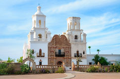 Mission San Xavier del Bac. Church Royalty Free Stock Photography