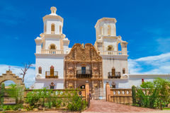 Mission San Xavier del Bac. Near Tucson, Arizona Royalty Free Stock Photography