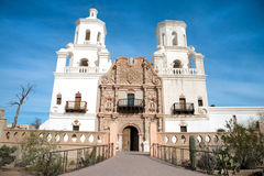Mission San Xavier Del Bac in Tohono O'odham Indian Reservation, Arizona Royalty Free Stock Photos