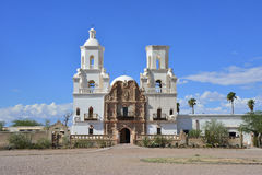 Mission San Xavier del Bac. On the Tohono O'odham San Xavier Indian Reservation south of Tucson, Arizona Royalty Free Stock Images