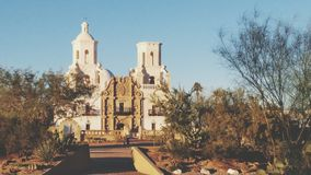 Mission San Xavier Del Bac in Tucson, Arizona royalty free stock photos
