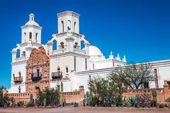 Mission San Xavier del Bac Tucson Arizona. United States Royalty Free Stock Photo