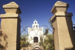 The Mission San Xavier Del Bac was erected between 1783 and 1897 in Tucson Arizona Stock Photography