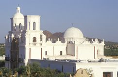 The Mission San Xavier Del Bac was erected between 1783 and 1897 in Tucson Arizona Stock Photos