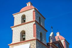 Mission Santa Barbara Bell Tower Photographie stock