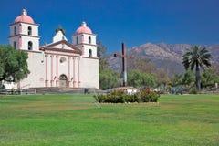 Mission of Santa Barbara, California. The front face in full sun of old Santa Barbara Mission, California Stock Photography