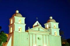 Mission Santa Barbara at night Stock Photo