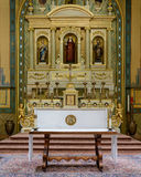 Mission Santa Clara. Altar of the Mission Santa Clara De Asis on the campus of Santa Clara University on El Camino Real in Santa Clara, California Royalty Free Stock Image