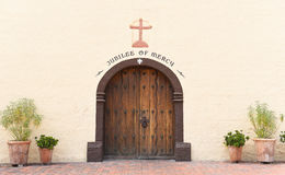 Mission Santa Ines Door Image libre de droits