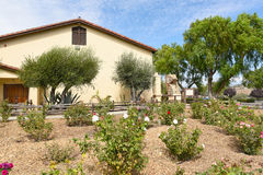 Mission Santa Ines Rose Garden Stock Photo