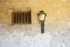 Free Mission Stone Window With Lamp Stock Photo - 62373640