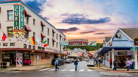 Mission Street in Ketchikan royalty free stock photo