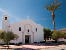 Mission style church in Borrego Springs Stock Photos