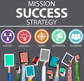 Mission Success Strategy Achievement Strategy Concept Stock Images