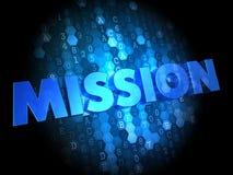 Mission sur le fond foncé de Digital. Photographie stock libre de droits