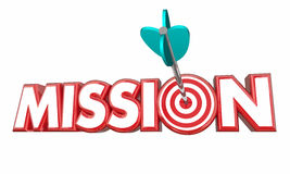 Mission Target Goal Met Success. 3d Illustration Royalty Free Stock Image