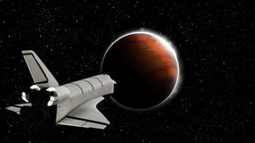 Mission To Mars Illustration Stock Photography