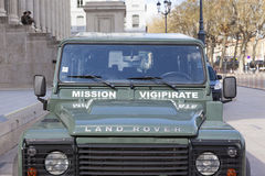 Mission Vigipirate car Stock Photography