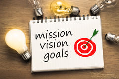 Mission Vision Goals Stock Photography