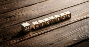 Mission Vision Strategy Company Goals Business Concept.  stock photos