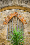 Mission Window Greenery Royalty Free Stock Images