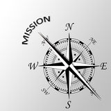 Mission written aside compass. Illustration of Mission written aside compass Royalty Free Stock Image