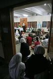 Missionaries of Charity of Mother Teresa at Mass in Mother House, Kolkata Royalty Free Stock Images