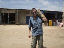 Missionario in Africa fotografia stock libera da diritti
