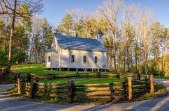 Missionario Baptist Church, baia di Cades, Great Smoky Mountains Fotografia Stock Libera da Diritti