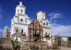 Missione del San Xavier del Bac Spanish dell'Arizona Immagini Stock Libere da Diritti