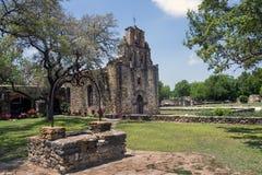 Missione Espada, San Juan Mission National Park Fotografia Stock Libera da Diritti