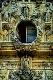 Missione San Jose Open Window e lavoro in pietra fotografie stock libere da diritti