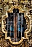 Missione San Jose Window e lavoro in pietra Fotografie Stock Libere da Diritti