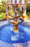Missione Ventura California della fontana Fotografie Stock Libere da Diritti
