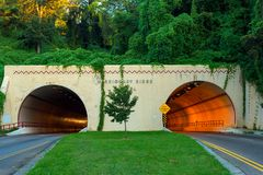 Missions-Ridge-Tunnel Stockbilder
