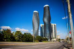 Mississauga Downtown Absolute Buildings Royalty Free Stock Images