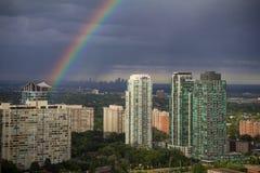 Mississauga som är västra av den Toronto regnbågen Arkivbilder