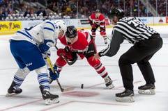 Mississauga Steelheads vs Ottawa 67 Hockeylek Royaltyfri Fotografi